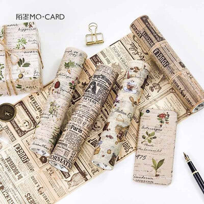 DIY Washi Masking Tape 5Meter Paper Sticker Vintage Modern Times Decor Scrapbook