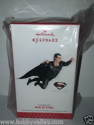 Superman Man Of Steel 2013 Hallmark Keepsake Ornament Comic Con Sdcc Exclusive