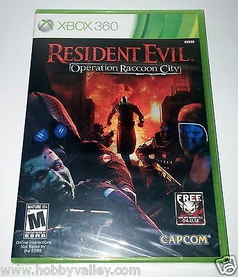 RESIDENT EVIL: OPERATION RACCOON CITY XBOX 360 Retail Sealed