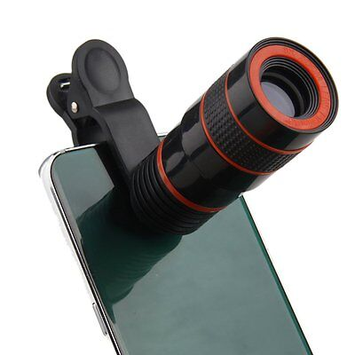 New Clip-on 8x Optical Zoom HD Telescope Camera Lens For Universal Mobile Phone
