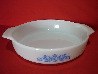 "Anchor Hocking White Oven Proof Pie Dish 9"" Retro Vintage Kitchenware"