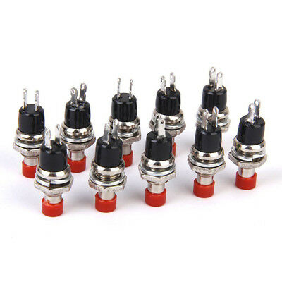 5/10Pcs Micro Micro DIY 7mm Thread 2 Pins Momentary Push Button Switch Red Hobby
