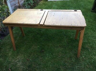 Vintage Double School Desk C1950's?