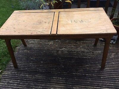 Vintage Double School Desk ( Infants ) C1950's/60's?