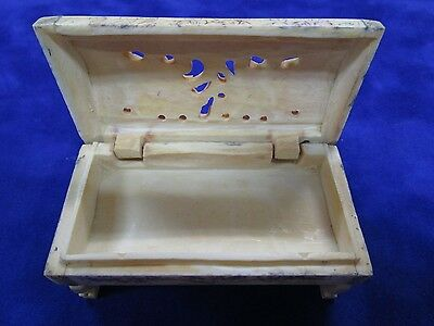 CHINESE HAND CARVED / ETCHED Bovine BONE , CRICKET CAGE