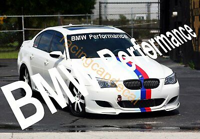 "36"" BMW Performance Sun Strip Visor Windshield windscreen Decal Sticker m power"