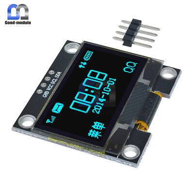 "1.3"" OLED LCD 4Pin Blue Display Module IIC I2C 128x64 3-5V Interface for Arduino"