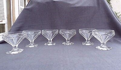 6 glasses champagne crystal moulded type baccarat bourbon harcourt
