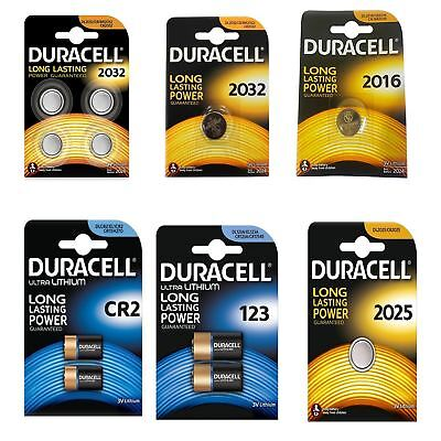 Duracell DL CR2032 CR2016 CR2025 CR123A CR2 Long Lasting Lithium Coin Batteries