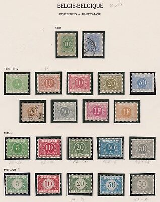 Belgien / Belgium Timbres-Taxe 1870-1920 MH / used  #1