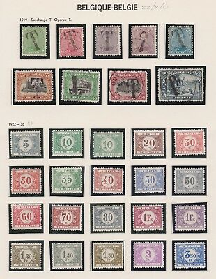 Belgien / Belgium Timbres-Taxe 1919-1938 MNH / MH / used  #2