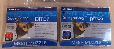 Ancol Soft Dog Mesh Muzzle Soft Comfortable Breathable Humane