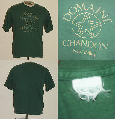 Vtg Domaine Chandon Champagne Moet T-Shirt Xl Napa Valley Ca Green Star Logo
