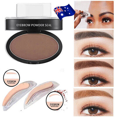 EYEBROW STAMP Powder Palette Natural Definition Brow Makeup Cosmetic Brown BK