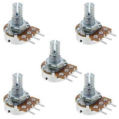 5 x 100K Logarithmic Log Splined Potentiometer Pot