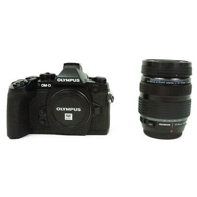 OLYMPUS OM-D E-M1 Digital SLR Camera Lens Kit Good Condition F/S Tracking Number