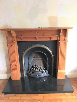Cast Iron Fireplace + Gas Fire+ Granite/stone? Hearth + Pine Surround Package