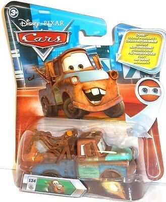 Look B - MATER WITH HOOD - #134 CHASE, Disney Cars Mattel auto Lenticular Eyes