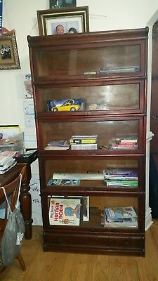 Antique Globe Wernicke Barrister Lawyers Bookcase