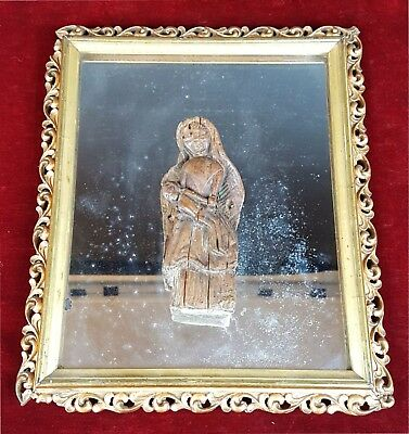 Virgin Maria With Jesus. Woodcarving. Colonial Style. 18Th-19Th Century.