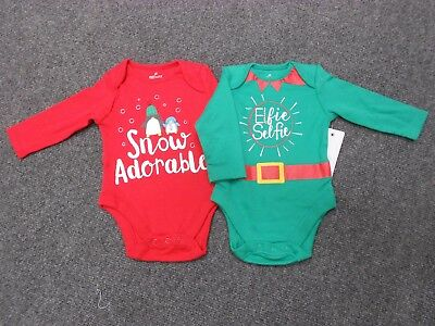 F&F Baby Christmas Vest Bodysuit pack Boy Girl Unisex Elf Santa