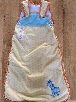 Dunelm 6-12 Months Sleeping Bag 2.5 Tog Little Jungle Friends Yellow Blue