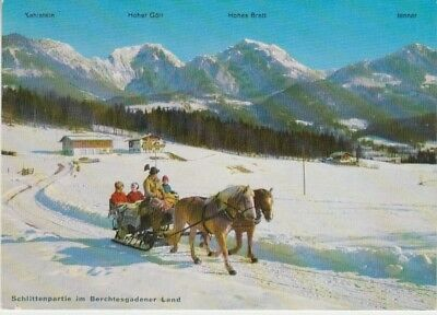 Germany (W) - Horse Sleigh in Berchtesgadener Land (Post Card) 1960's