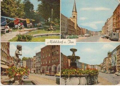 Germany (W) - Views of Muhldorf Town (Post Card) 1960's