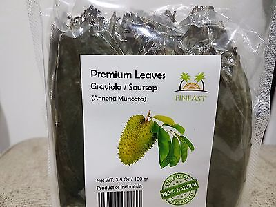 Air-Dried Guanabana / Soursop / Graviola / Guyabano (250 Leaves)