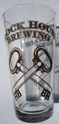 Block House Brewing Co Beer Pint Glass Brand NEW  Lawrenceville PA Micro Brew