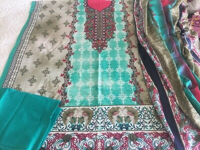 Pakistani designer Printed Cotton COLLECTION UN-STITCHED SHALWAR KAMEEZ SUIT