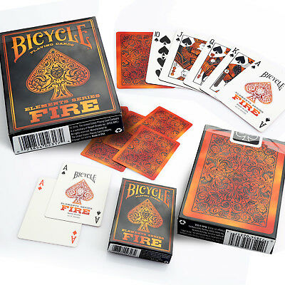 Bicycle Fire Playing Cards Single Deck Stunning Design Poker Magic Sealed New