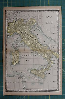 Italy Vintage Original 1894 Rand McNally World Atlas Map Lot