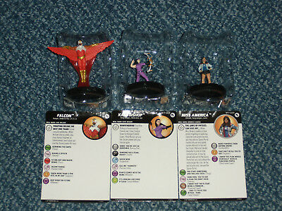 HeroClix Marvel Young Avengers Monthly Falcon, Kate Bishop, Miss America