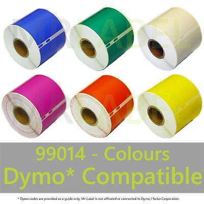 Dymo 99014 Colours Compatible Labels - FAST FREE SHIPPING - Multi Roll Discount