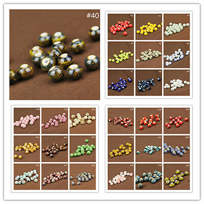 Wholesale 50Pcs Acrylic Round Big Hole Spacer Beads Jewelry Finding 10mm New