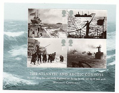 GB 2013 Merchant Navy Atlantic & Arctic Convoys mini / miniature sheet MNH stamp