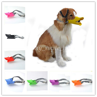 Chic Lovely Adjustable Silica Pet Dog Muzzles Duck Mouth Guard Snout Safety New