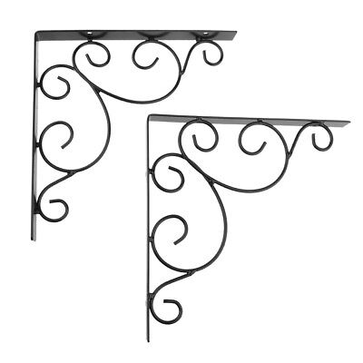 Bird Feeders additionally Metal Spice Rack in addition 390950832243 further 3 BLACK ANTIQUE STYLE 11 SHELF BRACKETS WROUGHT 263257032816 together with 181221528373. on wrought iron garden furniture ebay
