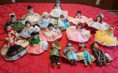 "Vintage Madame Alexander 8"" Dolls with boxes- Lot of 18"