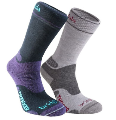 Bridgedale Womens Woolfusion Trekker Socks Twin Pack Limited Editon