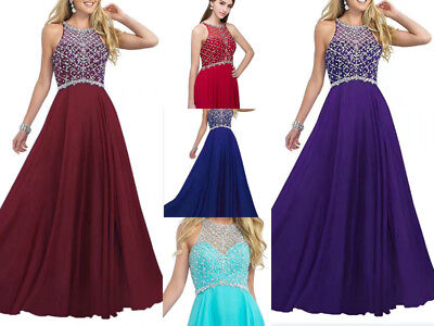 Full Length Party Gown Evening Bridesmaids Dress Size 8 10 12 14 16 Custom-made