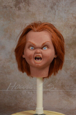 *1:1 Chucky Childs Play 'bad Guy' Silicone Head Doll/ Movie Accurate Rare Prop*
