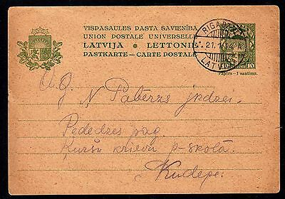 Latvia - 1934 Postal Stationary (Postal Card)