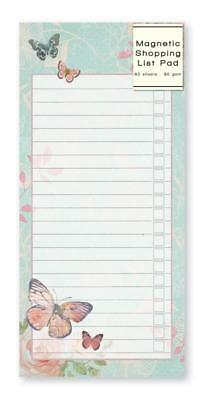 Magnetic Butterfly Shopping List Pad Stationary Gift