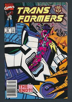 Marvel Comics Transformers #75 1991 - Death Of Unicron! - Solid Copy!!