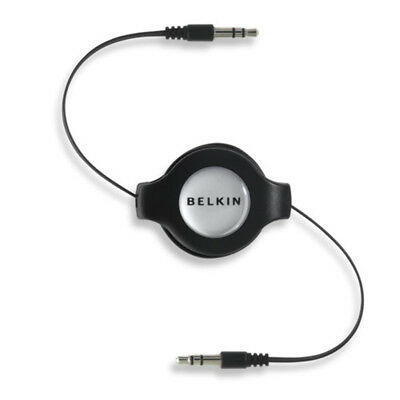 Belkin Retractable Car-Stereo Cable / iPod & iPhone 1.45m 3.5mm 3.5mm Black audi