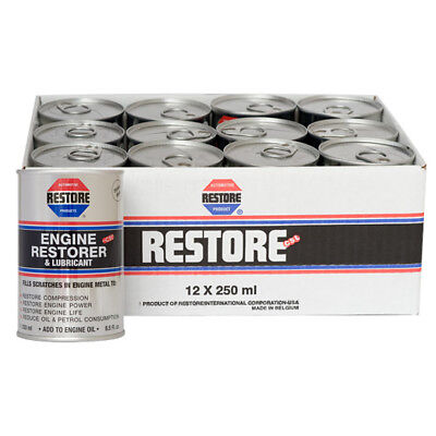 New BULK BUY 12x250mls cans AMETECH RESTORE Engine Restorer Lubricant Additive