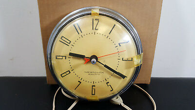 Vintage Westclox Electric Kitchen Wall Clock model S8-E Spice