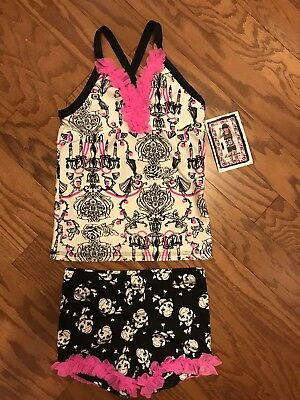 LEXI LUU Rock and Roll TOP AND DANCE SHORT SET - LARGE 10/12 Brand new with tags